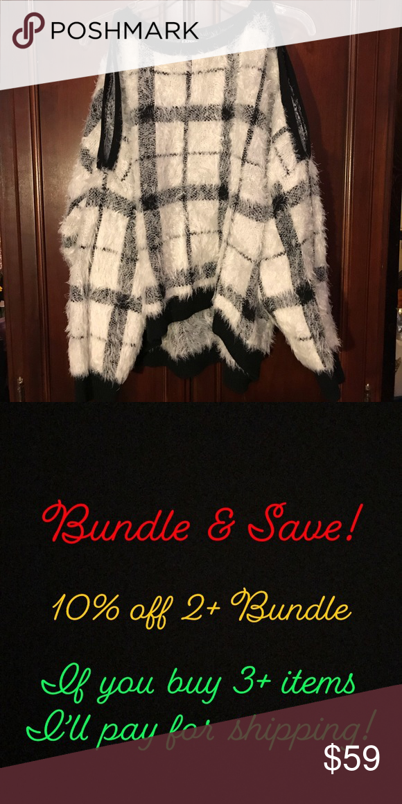9caa76cb1314e Plaid Textured Cold Shoulder Sweater Show off your awesome shoulders in  this cozy oversized sweater.