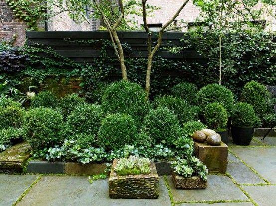 26 Genial Stadthaus, Innenhof, Garten Designs