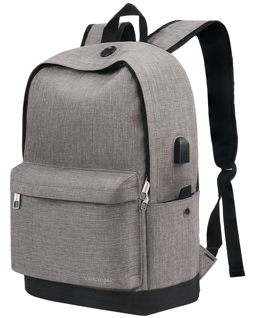 cdb356d6339a Vancropak Backpack, Travel Water Resistant School Backpacks with USB ...