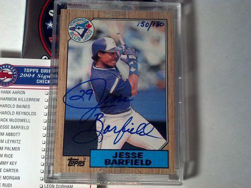 (2004) Topps Original Signature Edition JESSE BARFIELD 150/180