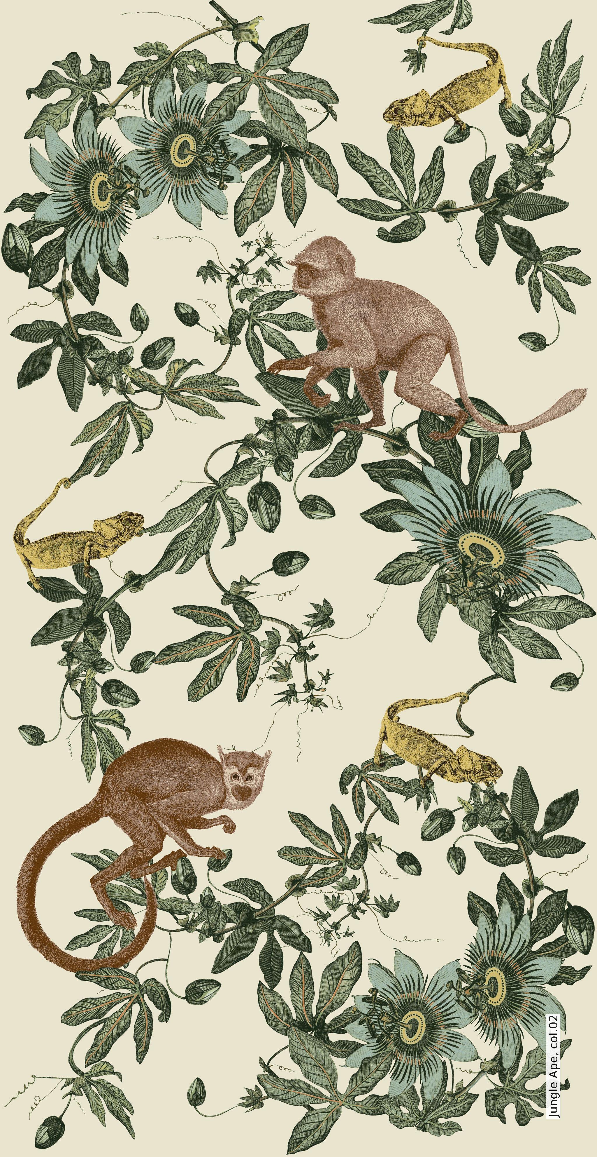 jungle ape fototapet pinterest dschungel dschungel tapete und tapeten. Black Bedroom Furniture Sets. Home Design Ideas