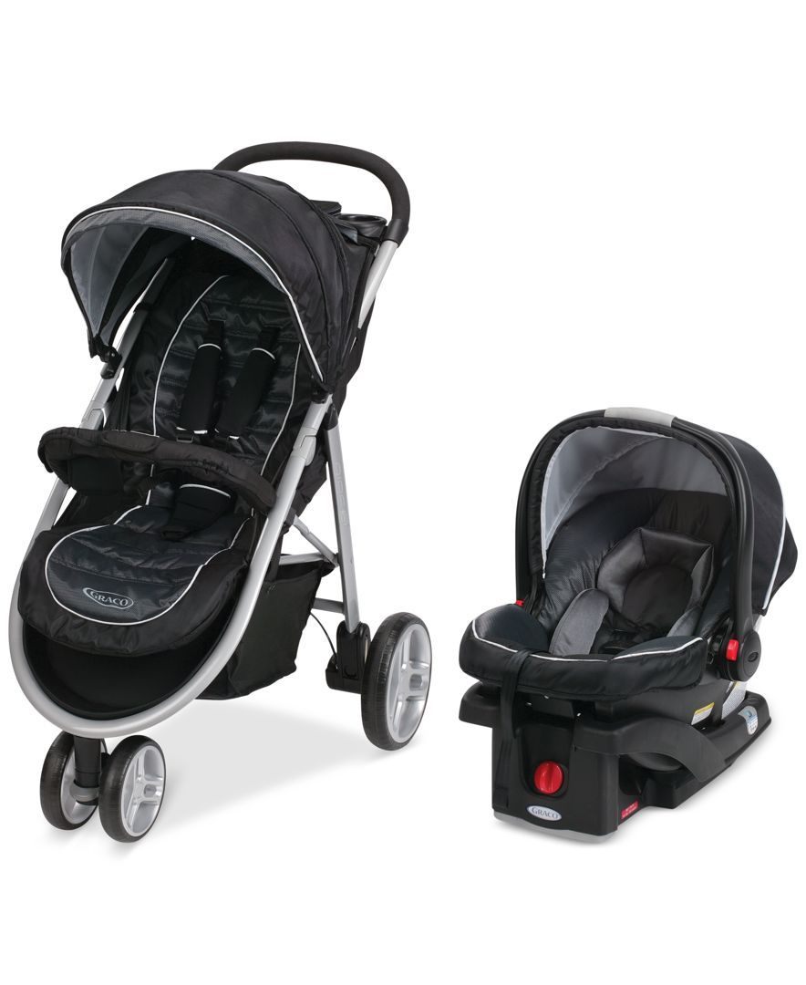 Graco Baby Click Connect Aire3 Stroller SnugRide 35 Infant Car Seat Travel System