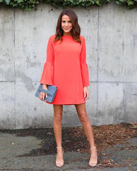 fdda829edec3 Just Believe Bell Sleeve Dress - Coral | Style in 2018 | Dresses ...