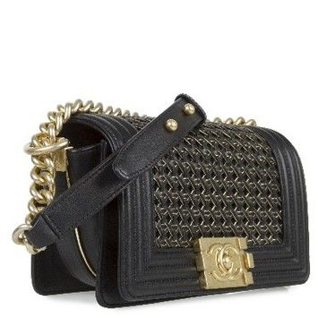 957636f64115 Chanel Braided Sheep Le Boy Classic Flap Sale Sold Out Runway Style Rare  Black Cross Body Bag.