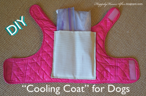 Daily Diy Pet Pattern How To Make A Doggie Cooling Vest Diy Dog Stuff Dog Coats Diy Stuffed Animals