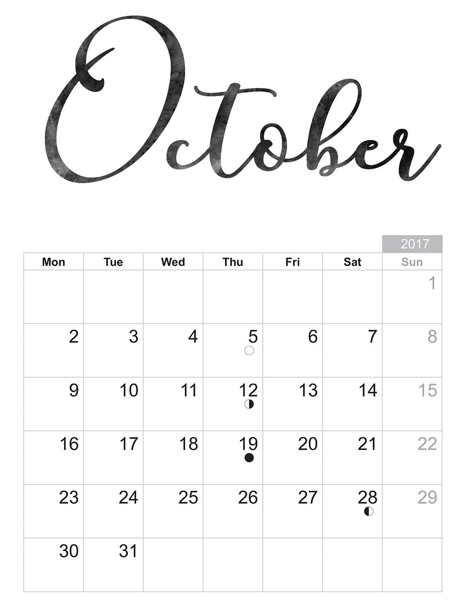 October  Free Printable Sheet  Free Printable Sheets