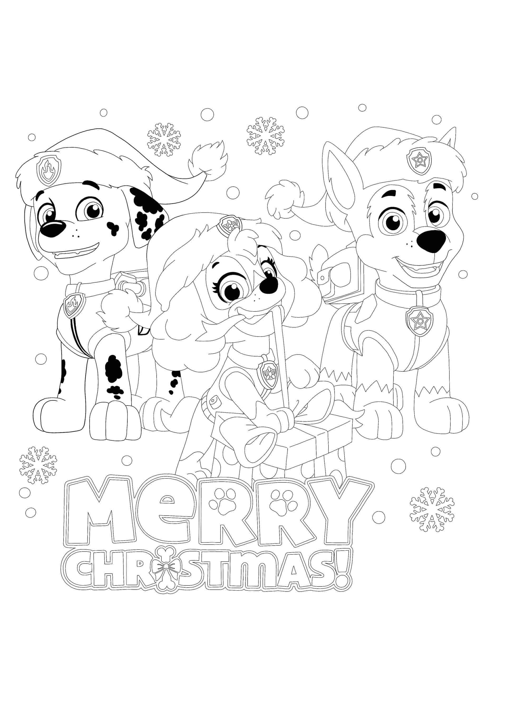 Paw Patrol Christmas Coloring Page Paw Patrol Christmas Paw Patrol Coloring Pages Christmas Coloring Pages