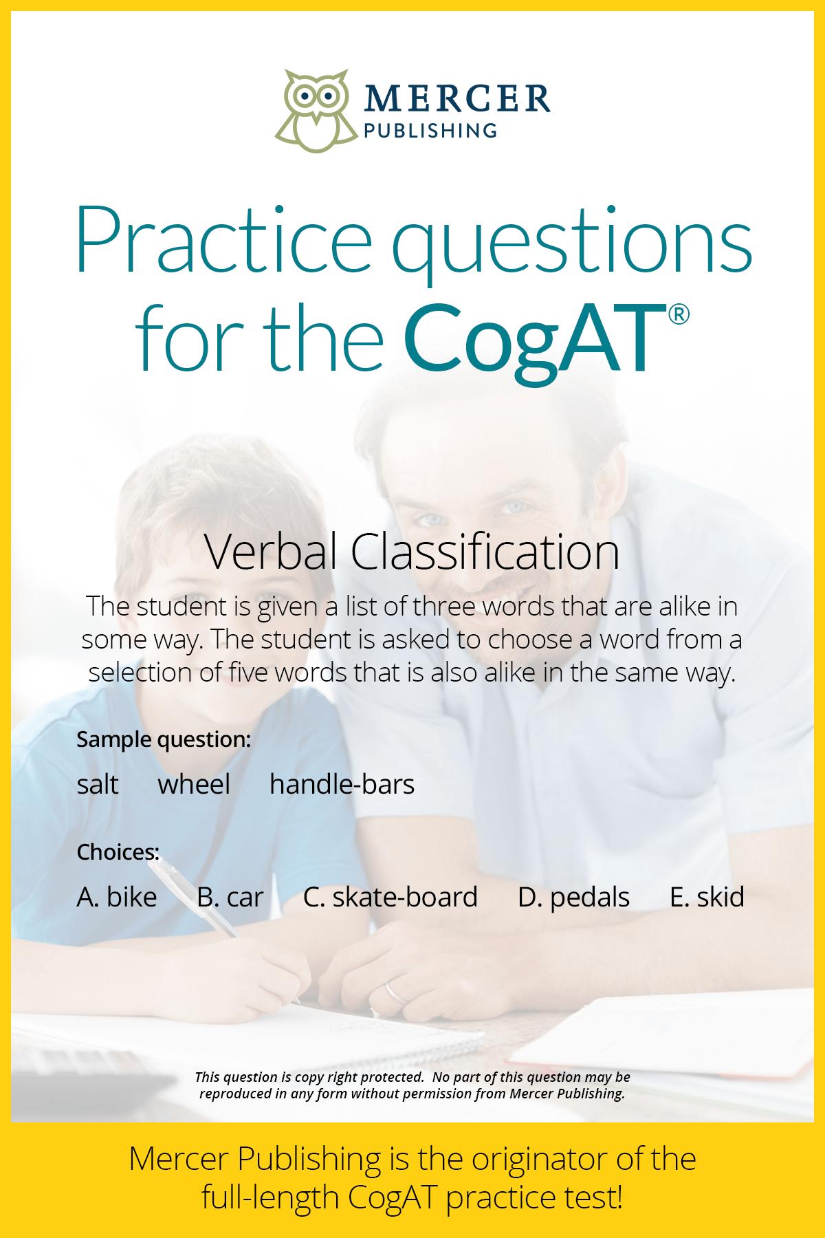 Cogat Practice Question Verbal Classification