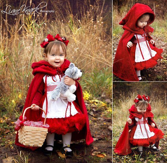 Capa y disfraz de Caperucita roja con patrones Disfraz