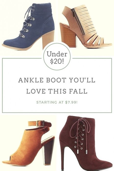 8d6613a208b Amazing ankle boots for under  20! Some peep toe