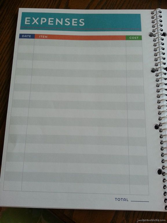 Michael S Recollections Budget Book Expenses Page Planners