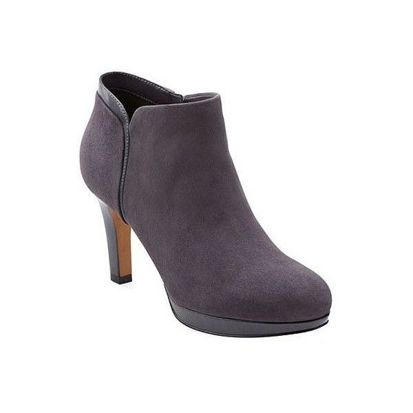 a6f8fa81a676 Clarks Artisan Suede Slip-on Booties ( 140) ❤ liked on Polyvore featuring  shoes