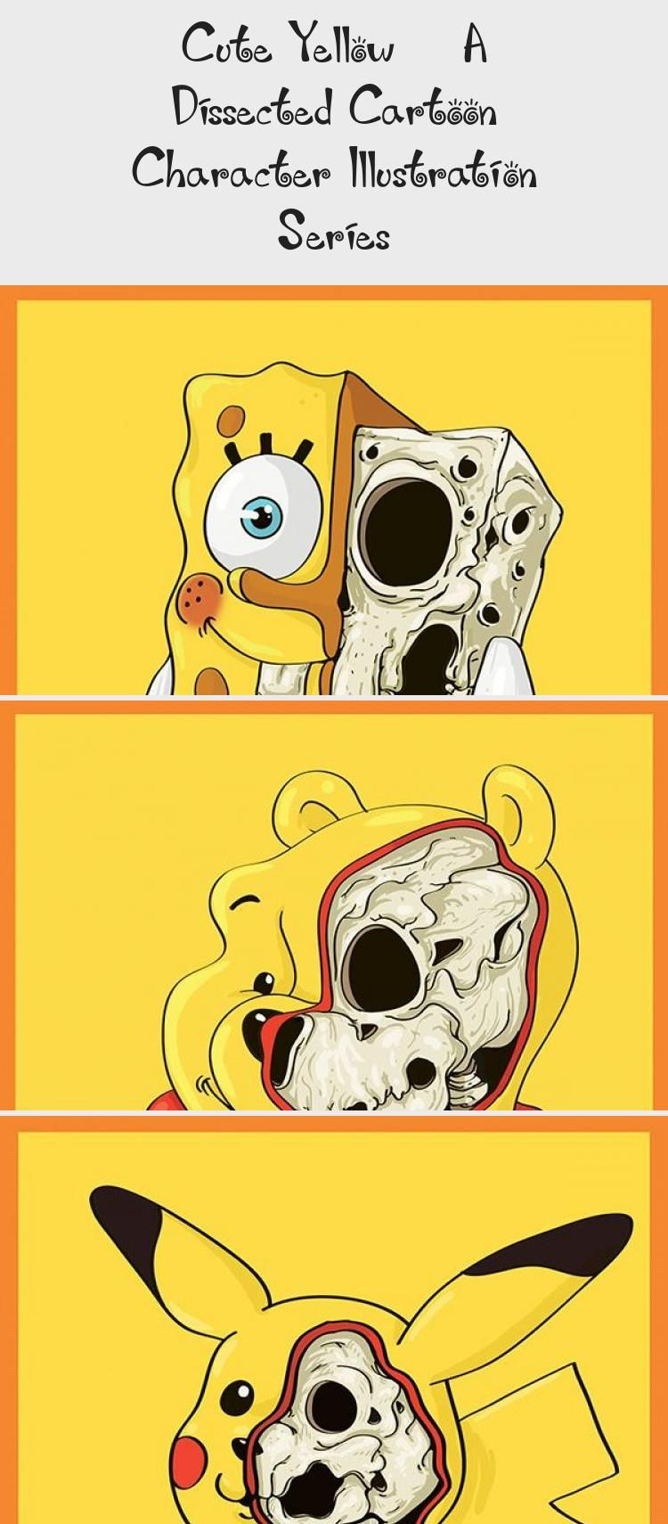 Cute Yellow 8211 A Dissected Cartoon Character Illustration Series Character Illustration Favorite Cartoon Character Cartoon Art Styles