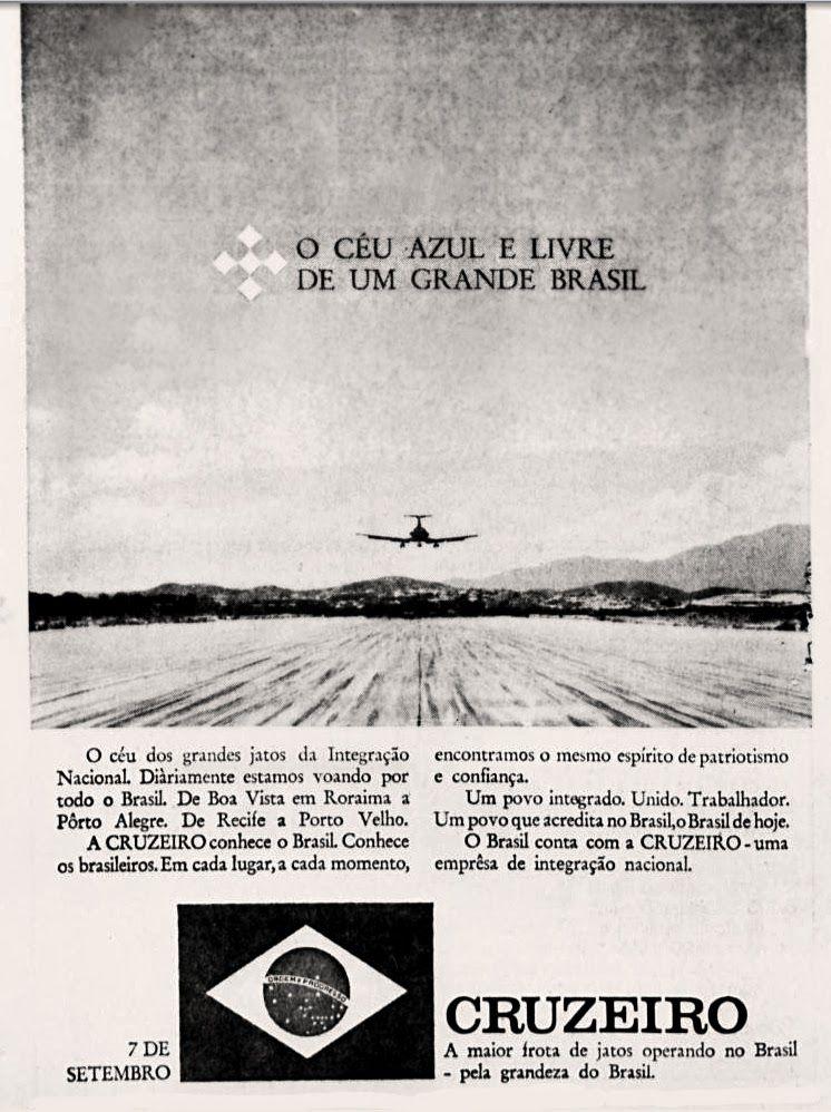 Anúncio Cruzeiro 1970
