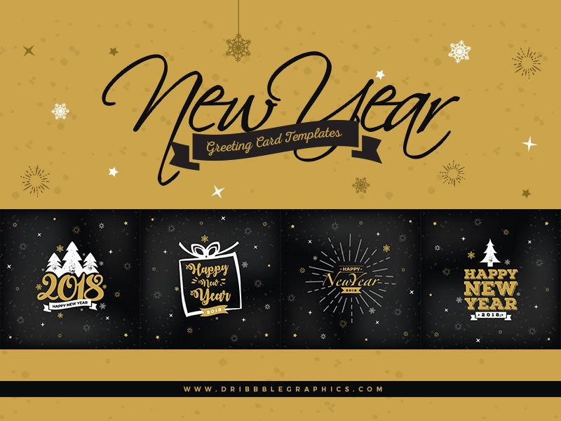 4 Free New Year Greeting Card Templates Greeting card template - new year greeting card template