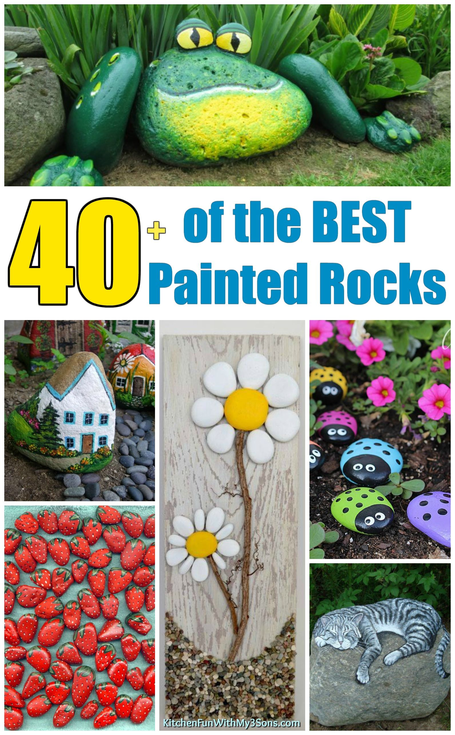 fd6ef6fd70b0 Over 40 of the BEST Rock Painting Ideas including animals