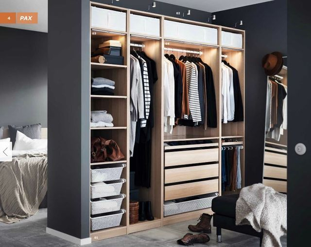 Dressings et armoires ikea le meilleur du catalogue 2016 for Taille chambre parentale