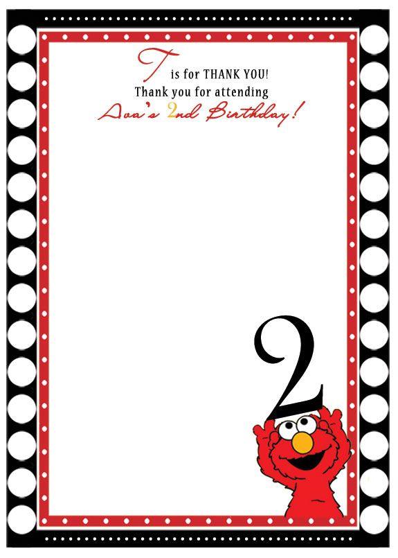 ELMO Birthday Invitation – Printable Elmo Birthday Invitations