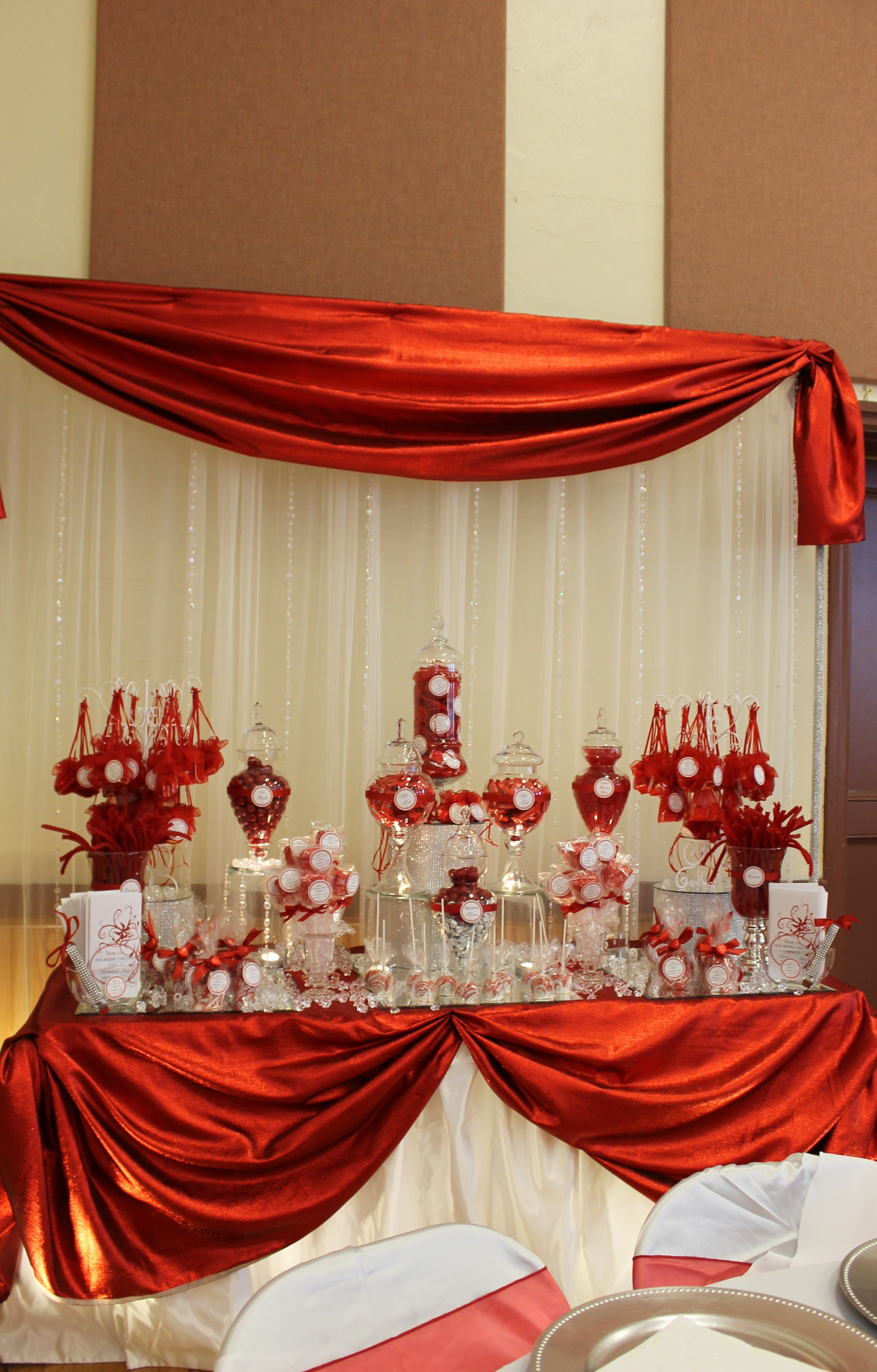 By Tasty Tables Bling Candy Buffet Red And White Candy Wedding