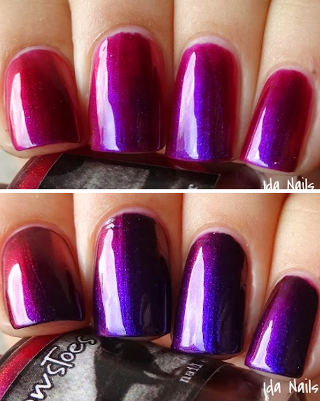 Indian Summer swatched by Ida Nails It Indie makeup