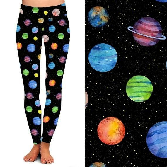 Outer Space Celestial Colorful Leggings  Space Pants  Stars  Outer Space  Galaxy  Universe  Cosmic  Cosmos  Etsy  Planets Outer Space Celestial Colorful Leggings  Space P...