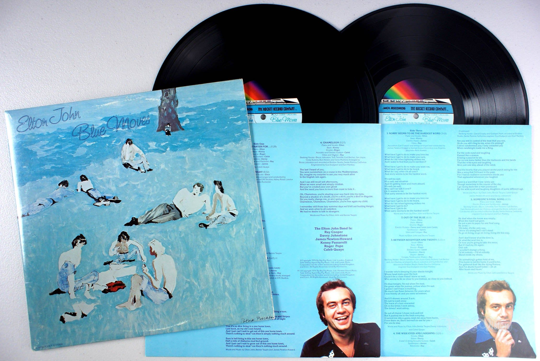 Elton John Blue Moves 1976 2 Lp Vinyl Sorry Seems To Be The