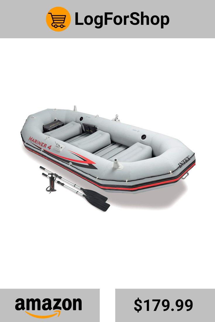 The 4Person Intex Mariner 4 Inflatable Fishing Boat Set