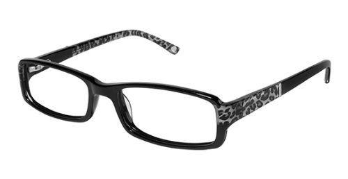 Bebe Eyeglasses Bb5003 003 Jet 52mm   Clothing & Accessories ...