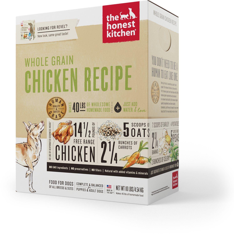 The Honest Kitchen Whole Grain Chicken Recipe Dehydrated