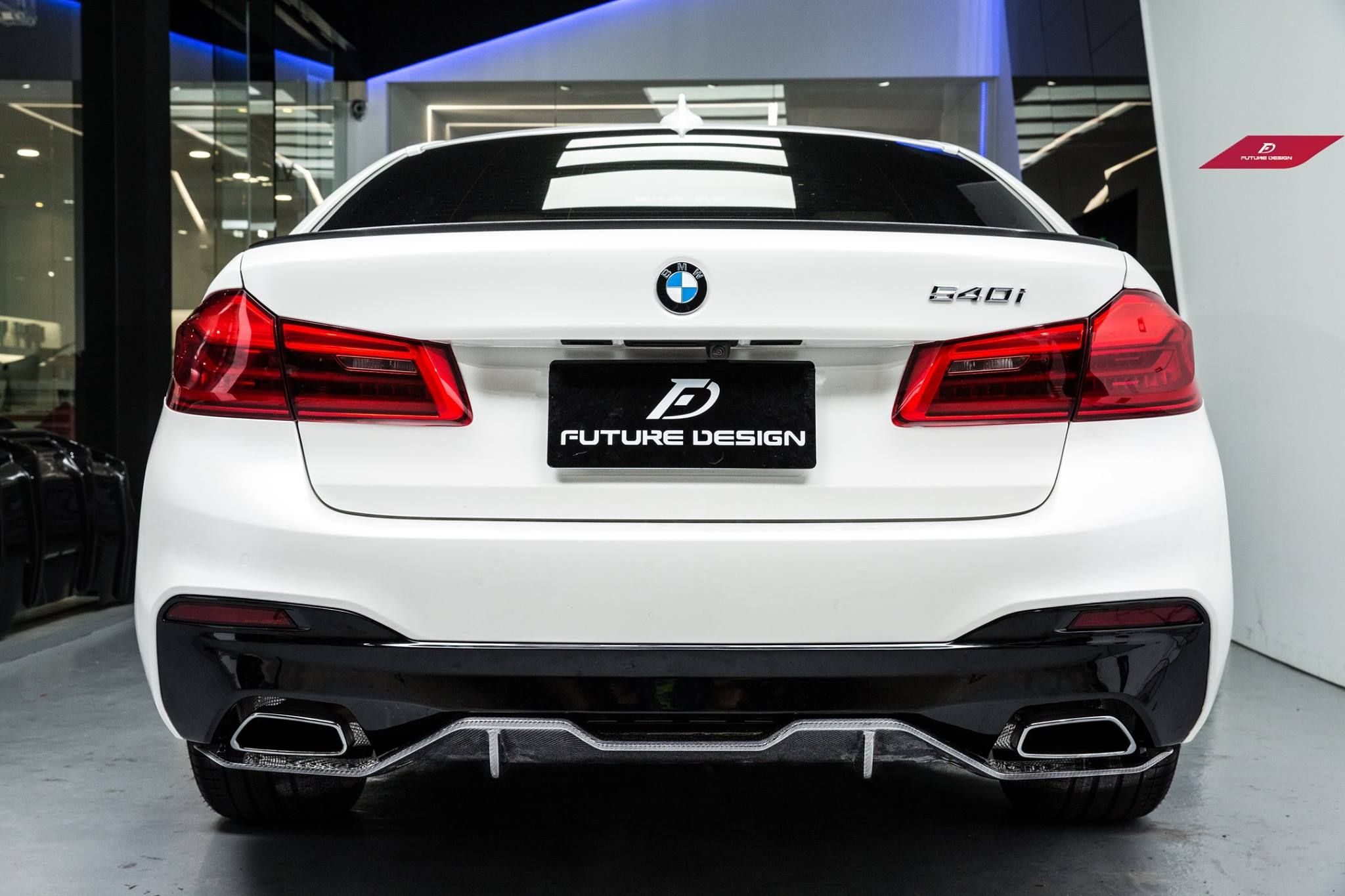 Bmw G30 5 Series M Performance Style Carbon Fiber Rear Diffuser