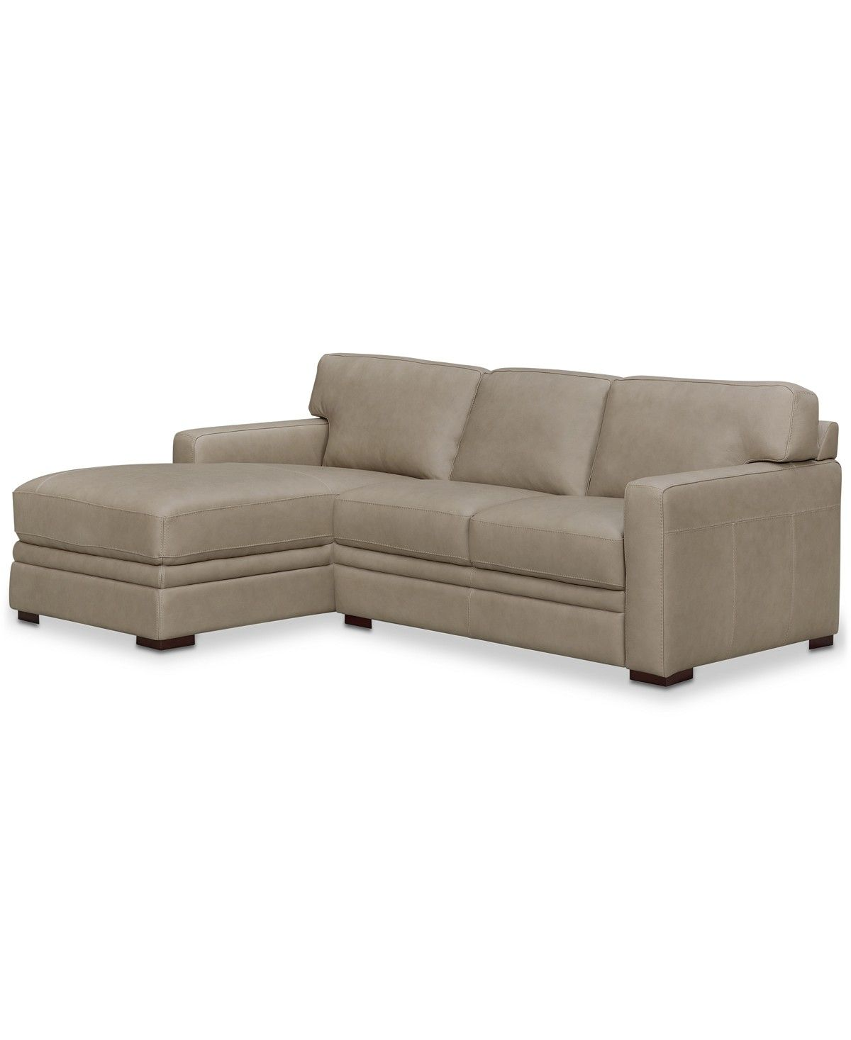Furniture Avenell 2 Pc Leather Sectional With Chaise Created For Macy S Reviews Furniture Macy S Leather Sectional Sofas Leather Sectional Leather Sofa