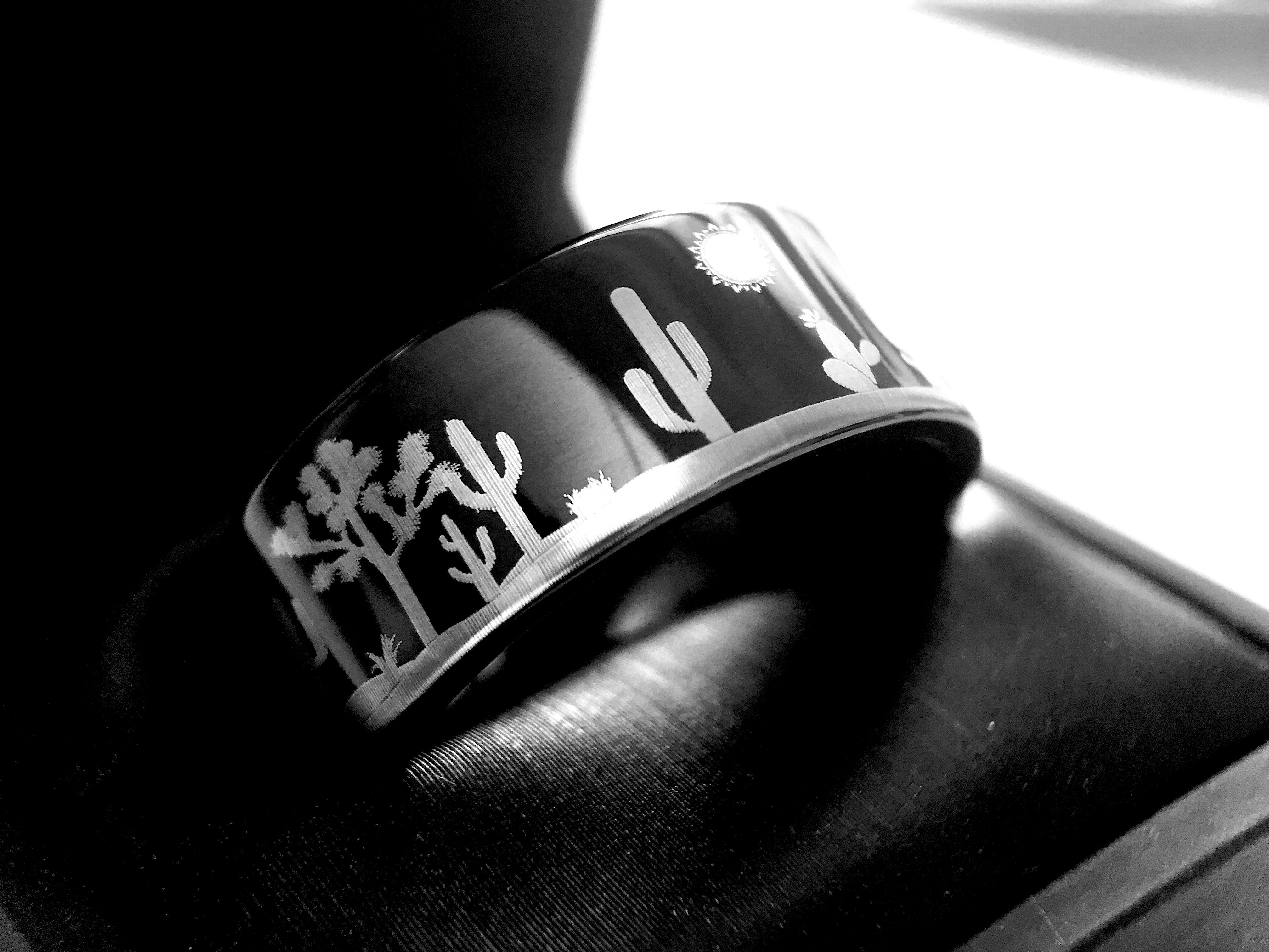Tungsten Ring, Wedding Band, Mens Ring, Women Ring, Desert