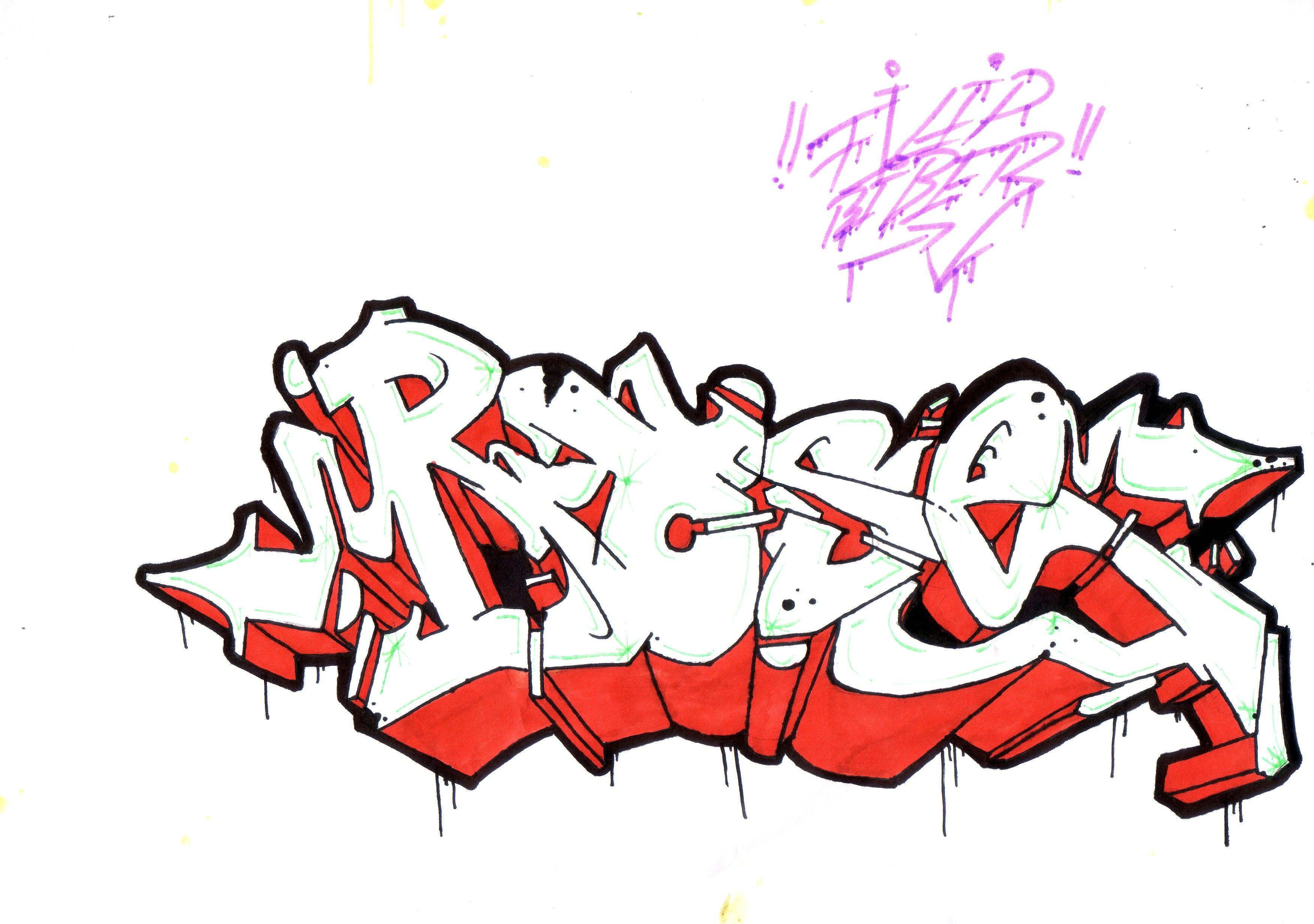 Graffiti Font Rose
