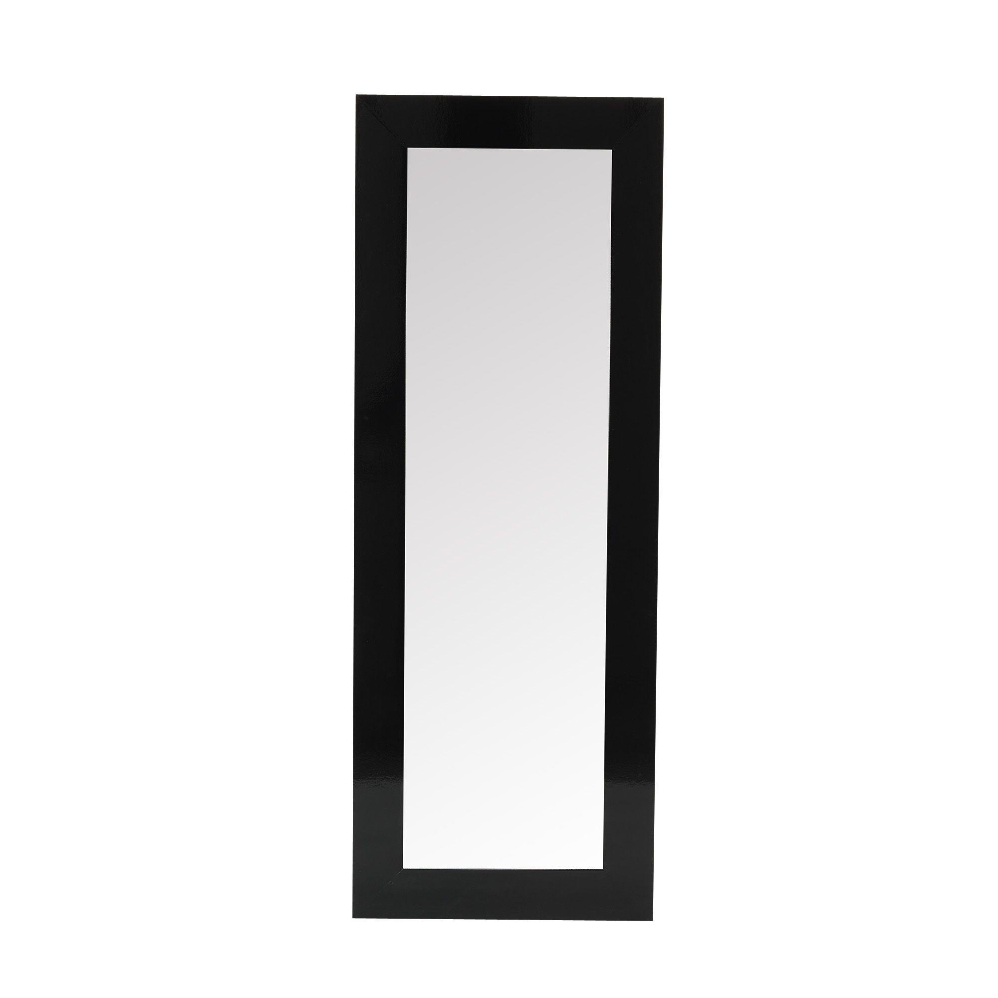 Miroir 40x140cm large encadrement noir noir mira les for Miroir encadrement noir