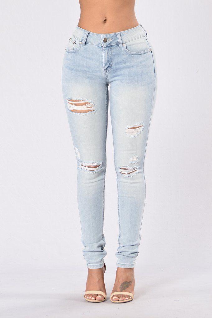 Make You Stay Jeans - Light Blue