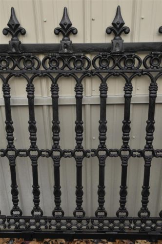 Thegatz On Ebay Victorian Style Cast Iron Fence Section