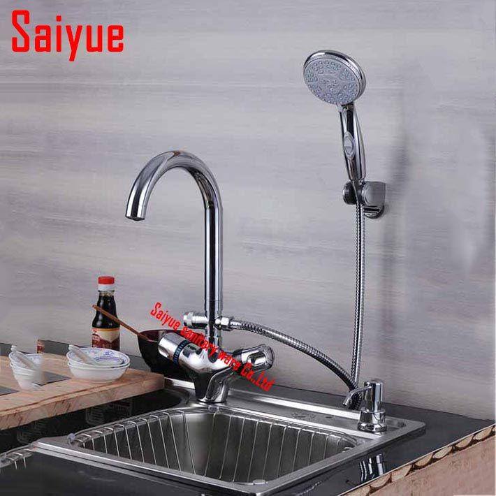 Deck Mounted Chrome Plated Brass Thermostatic Mixing Valve Sink Faucet For Bathroom Kitchen With Hand S Sink Faucets Cheap Kitchen Faucets Kitchen Fixtures