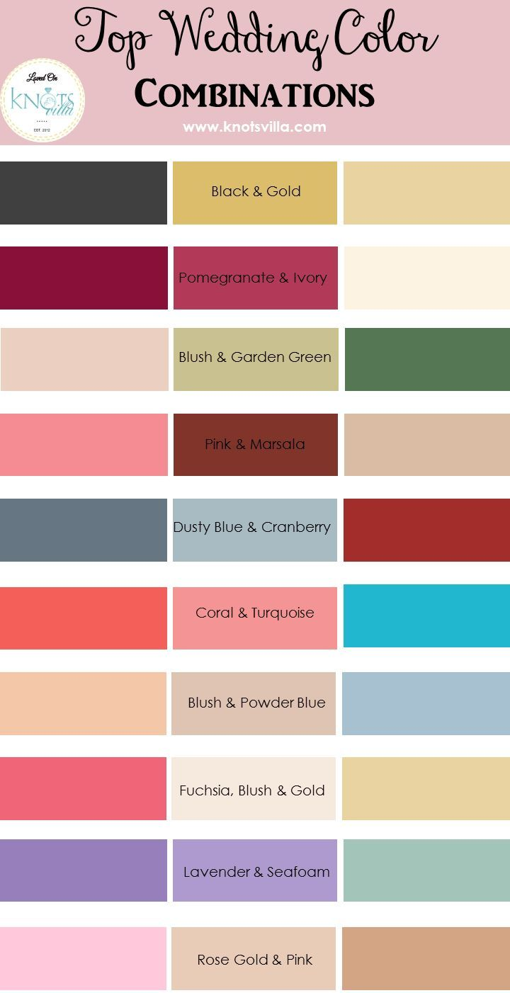 Top wedding color combinations wedding colour combinations top wedding color combinations junglespirit Images