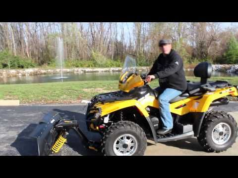 Can Am Atv Snow Plow Overview Youtube Can Am Atv Atv Snow Plow Snow Plow