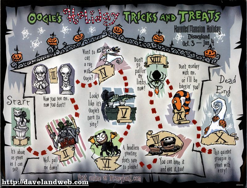 Disneyland Haunted Mansion Holiday Map-Click to enlarge