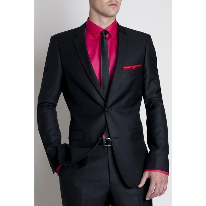 Pink Tie With Tux: Wholesale Modern Wedding Suit Brand Dinner Jacket Tuxedo
