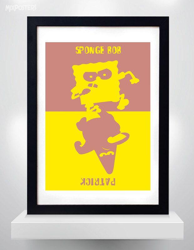 SPONGEBOB SQUAREPANTS & PATRICK, Wall Art Print Cartoon Poster ...