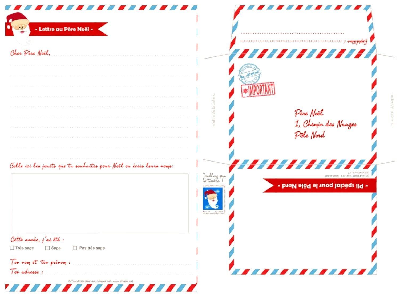 Bien-aimé Printable} Lettres au Père Noël | Lettre pere noel, Père noël et Pères VA14