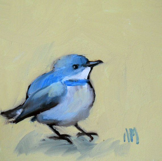 Bluebird Watercolor Bird Bluebird Painting Bird Art
