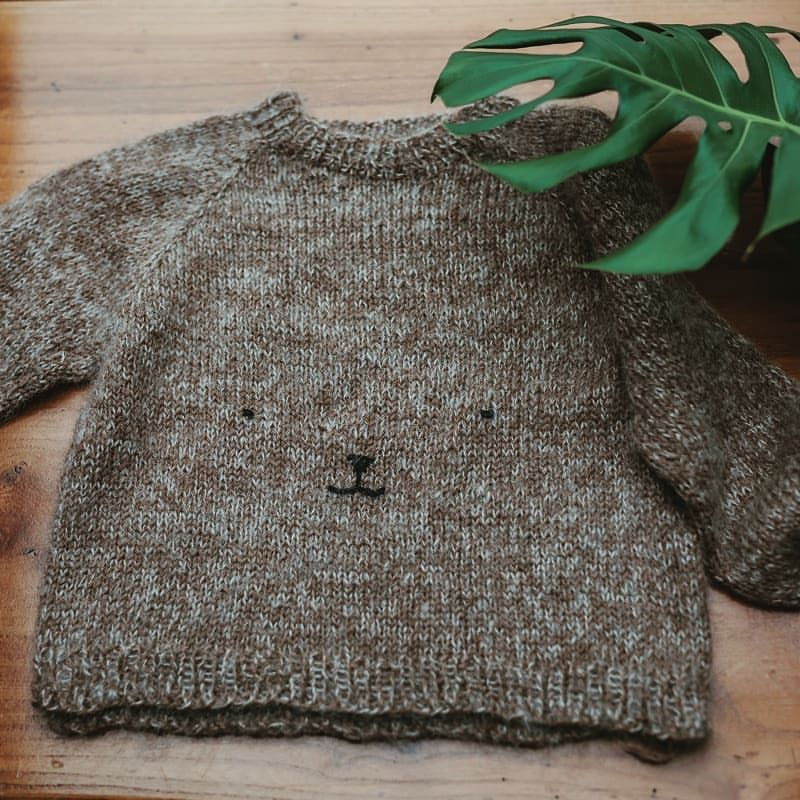 Finished teddy bear sweater for T (it's been done for ...