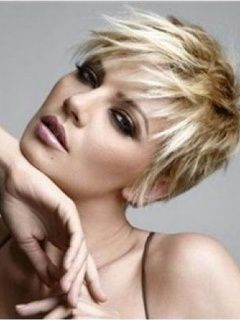 New Elegant Short Hairstyle About 4 Inch Straight Synthetic Wig Original  Price: $299.00 Latest Price