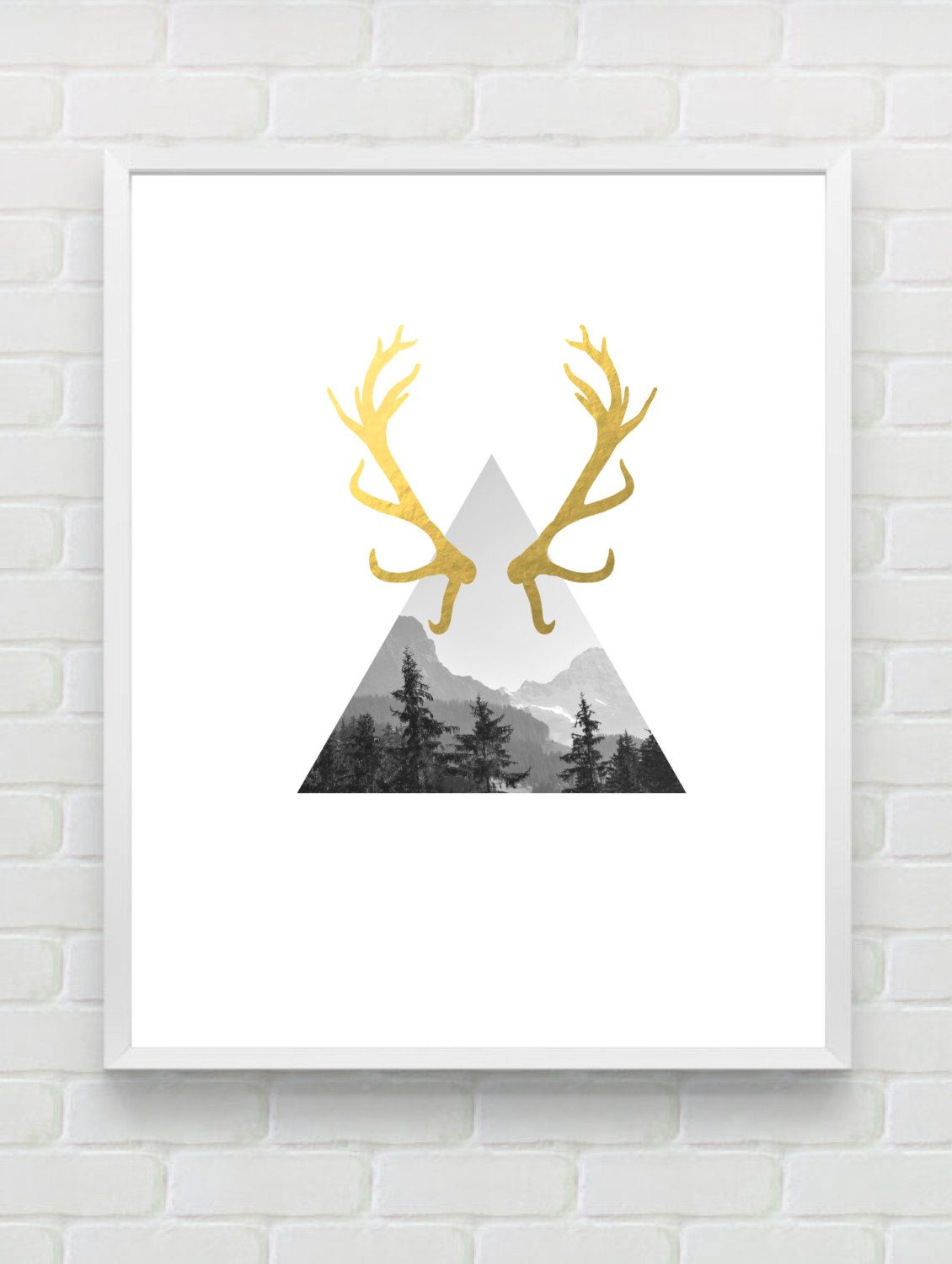 Gold Foil Wall Art forest photography printable gold foil print gold wall art