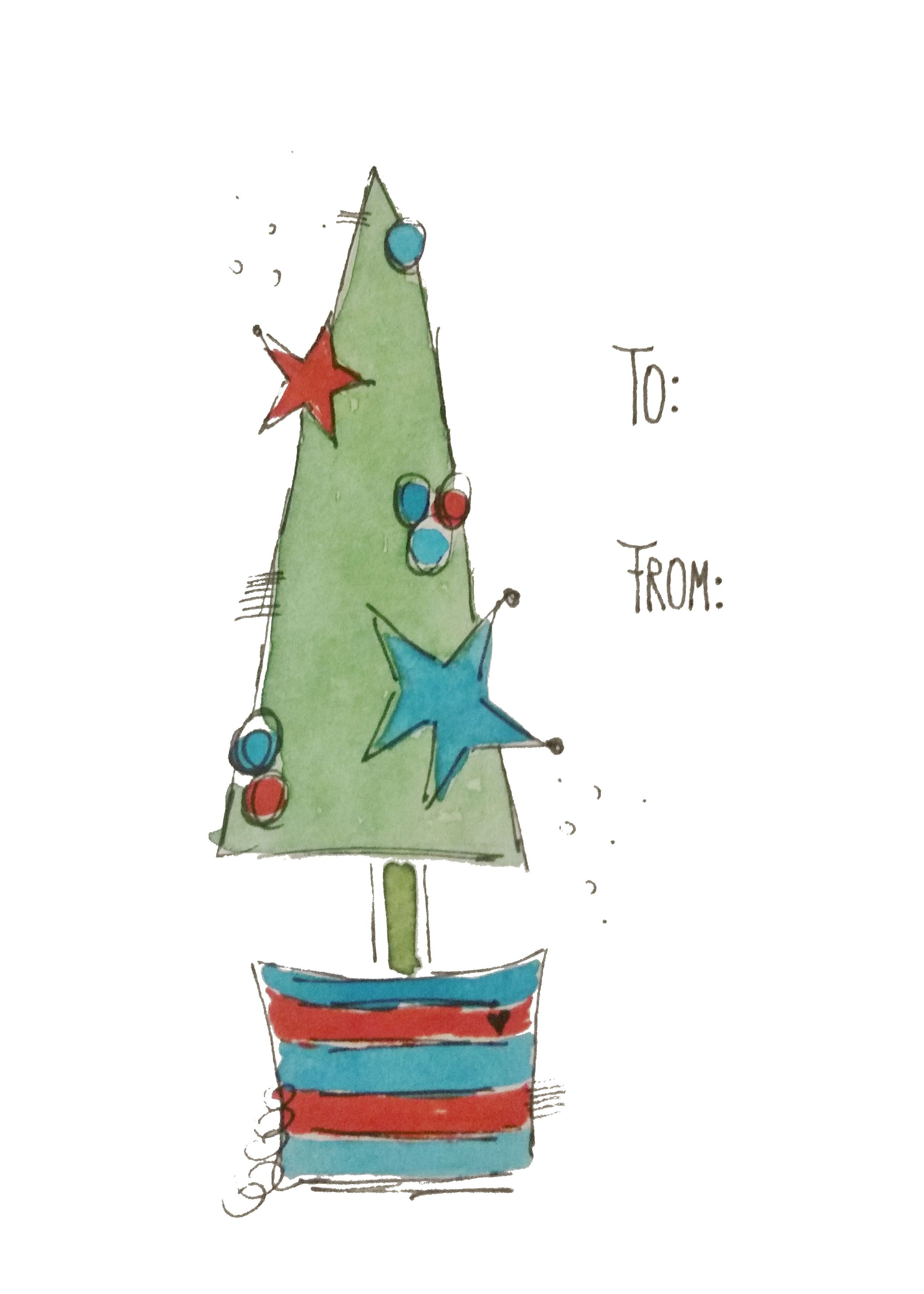 Geschenkanhänger Weihnachten by Sabine Brengel Malwerkstatt mit Herz #weihnachtenikea