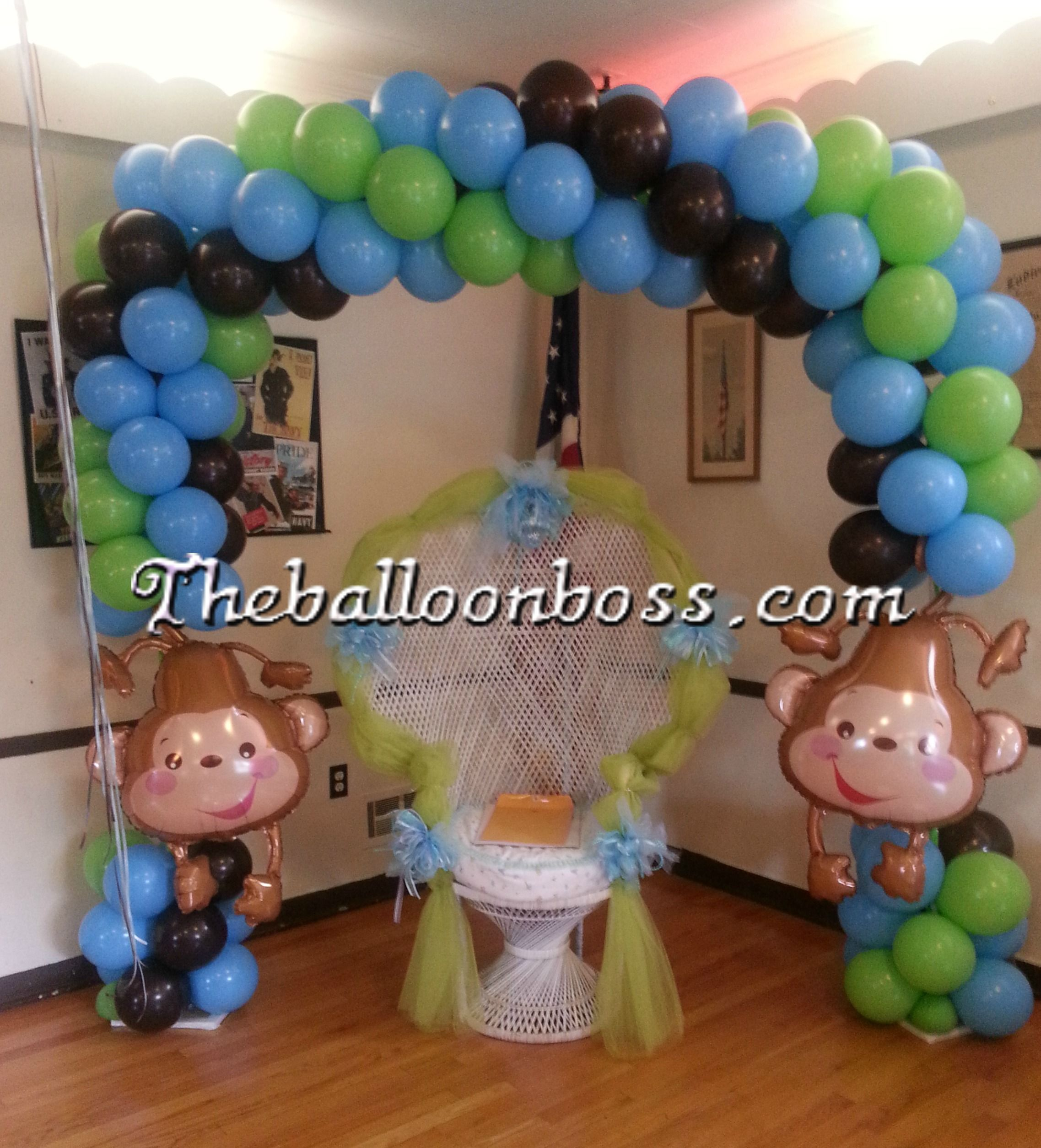 Monkey Balloon Arch Great For A Baby Shower.