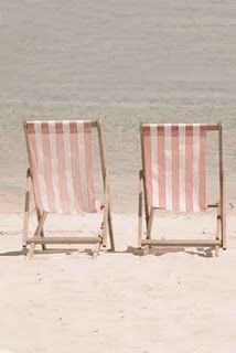 pink beach chair samsonite chairs uk where the living is easy and pretty blush weddings photography yours mine 2 white candy stripe